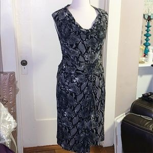 Snakeskin Print Jersey Kenneth Cole Dress